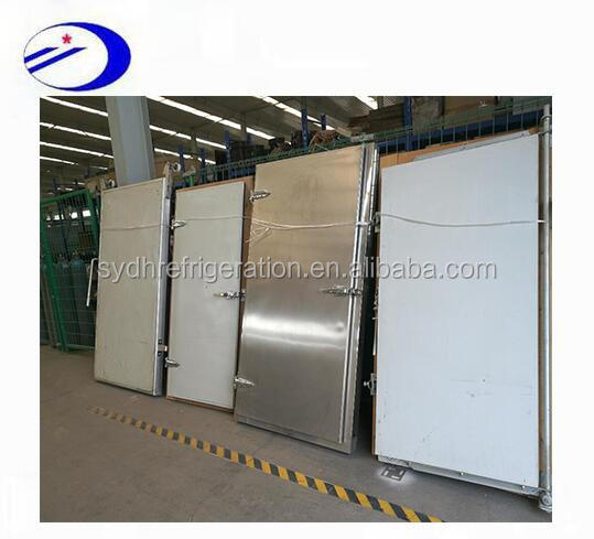 factory 304 stainless steel or color steel material cold room door and cold room wall panel