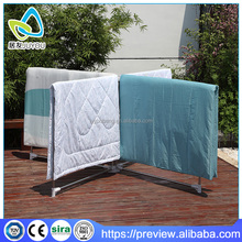 Outdoor folding iron stand for clothes and quilt