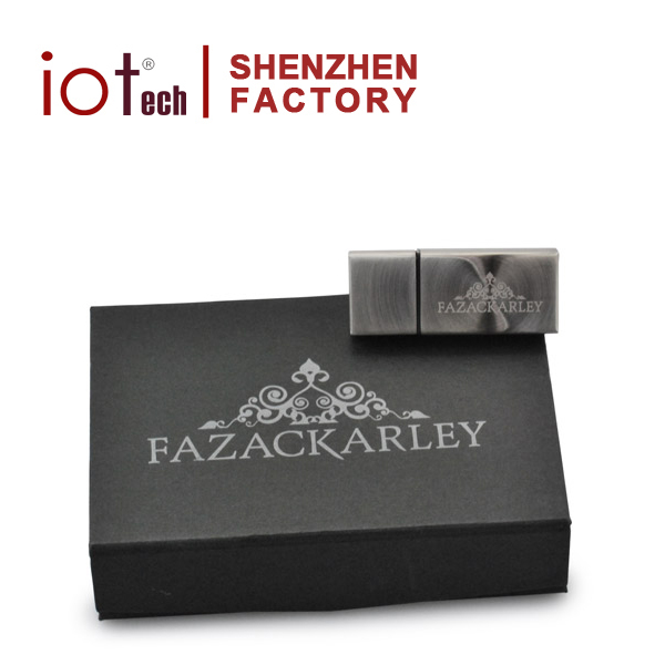 Low Price Custom Black USB Drive Gift Box With Custom Logo