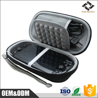 Black custom EVA travel carry case PSP game case bag for Sony Playstation Vita PSVita 1000 2000