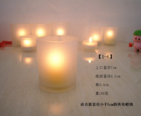 Frosted glass votive candle holder for wedding stained glass nativity candle holder