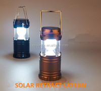 6led solar rechargeable camping lantern