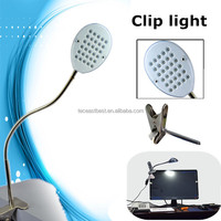 Portable 30 pieces LEDs clip light for hotel,school,office