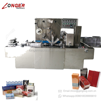 Automatic 3D Bopp Film Wrapping Condom Box Overwrapping Tea Bag Overwrapper Film Wrapping Machine