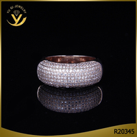 Women Fine Ring Jewelry For Engagement Pave Setting Cubic Zircon Diamond