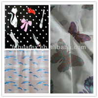 strech satin/printing polyester satin fabric for garment & home textile