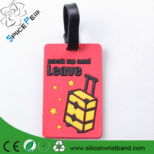Free print extra large usb luggage tag soft rubber baggage tag