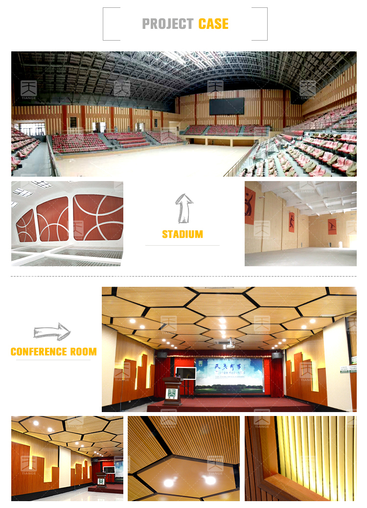 Soundproof Aluminum Acoustic Panels for Interior Ceiling And Wall metal acoustic panels