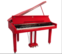 Factory price 88 keys Touch Sensitive Hammer Keyboard Midi Red Polish Digital Grand Piano
