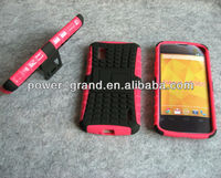 PC and TPU Stand armor case for LG Google Nexus4 E960