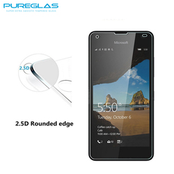 2016 New model screen protector for Nokia 550,100% perfect fit toughen film guard