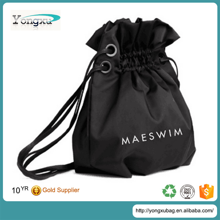 2015 new fashion waterproof nylon backpack drawstring bag, promotional nylon gifts tote handbags with cotton rope