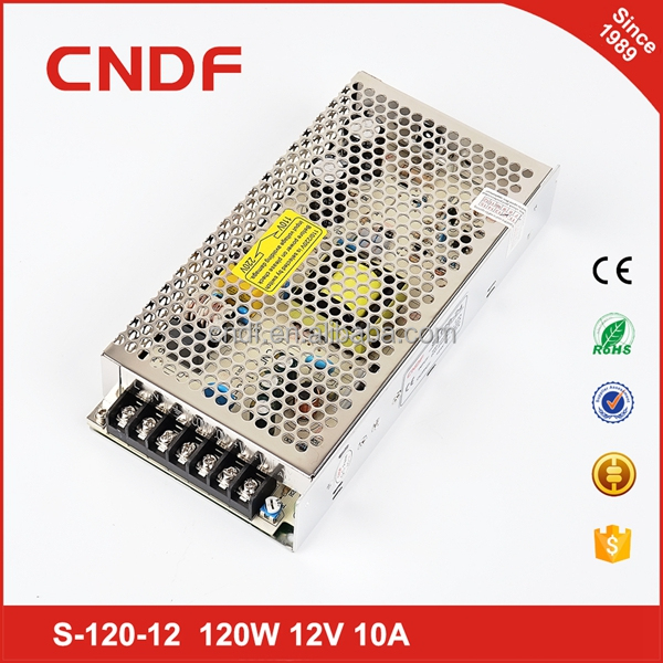 CNDF over voltage protection ac to dc power supply 120W 24v 5a single smps