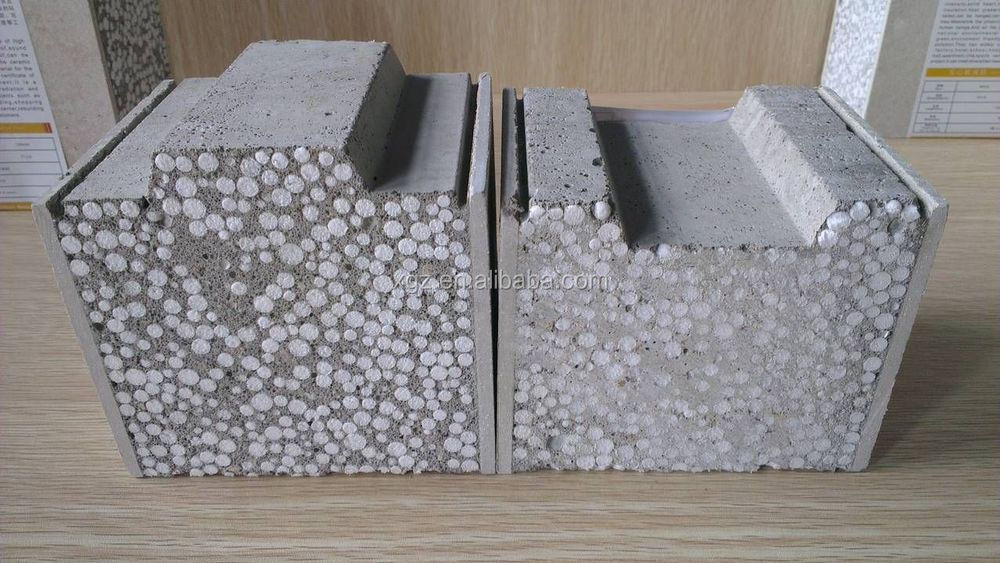 Xgz expanded polystyrene supplier light weight concrete for Styrofoam concrete walls