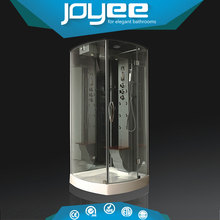 J-U810B Low price square hydromassage rain acrylic corner bathtub shower room cabin with showers
