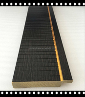 black color big size wave effect polystyrene mirror frame moulding profiles