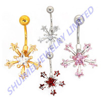 Steel NippleJewelry Tongue Vagina Lip Piercing Sexy CZ Stone Navel Belly Rings