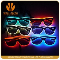 LED Trendy Ray-ban Sunglasses Good Design Fancy Novelty Led Sunglasses For Party