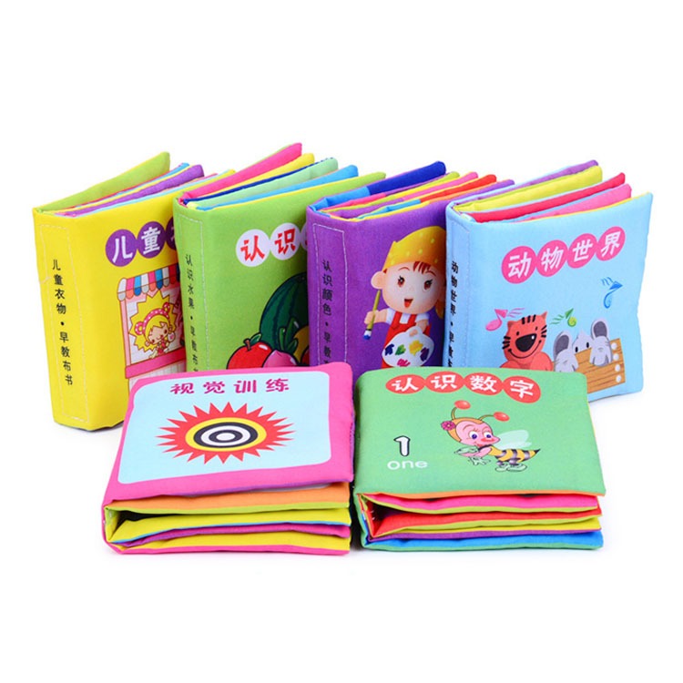 Wholesale High Quality Fabrics Super Soft Early Education Baby Bath Cloth Book
