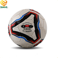 Silver Hand-stitched Leather Soccer Ball