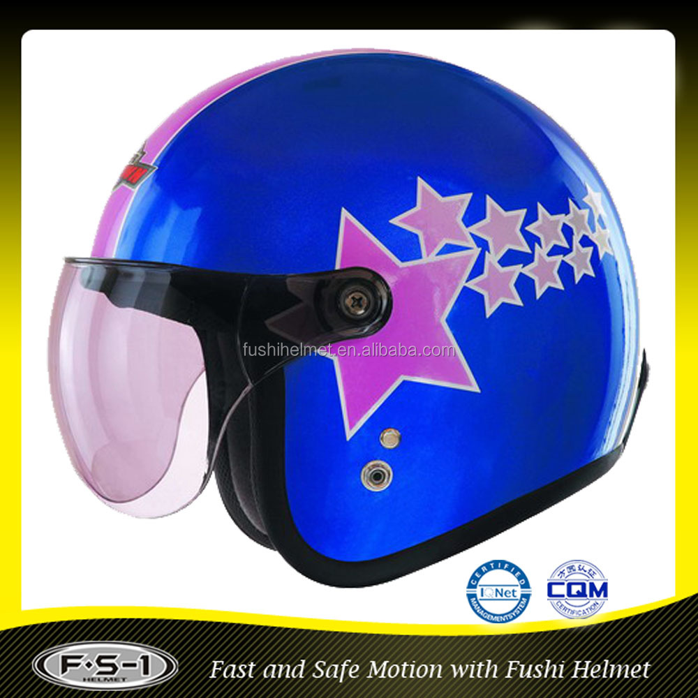 Decals ABS half face scooter motor cross helmet for sale