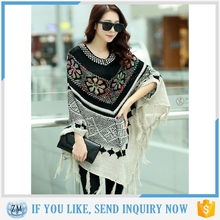 fancy colour poncho with high quality