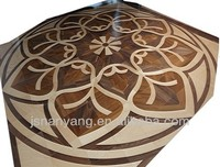Teak engineered art parquet wood flooring