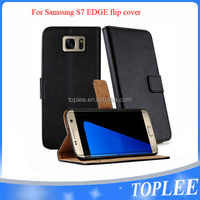 hot sale PU leather wallet flip cover for samsung S7 edge case