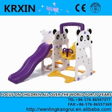 Kids bear Slide With Swing And Basketball Stand