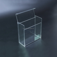 Delicate design cigarette box acrylic square lucite tray
