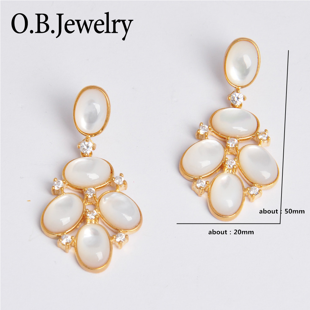China Fashion jewelry silver plated earings cubic zircon earings for women