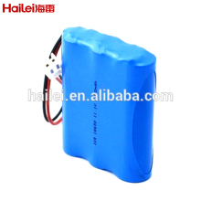 Shenzhen Hailei 11.1v 2200mah 18650 3S1P pack 12 Volt lithium ion battery
