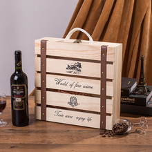 Manufactor wholesale custom portable luxurious wooden wine boxes, 4 bottles of wine box
