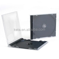 High Quality 10.4mm Single Black Plstic PS Jewel CD Case