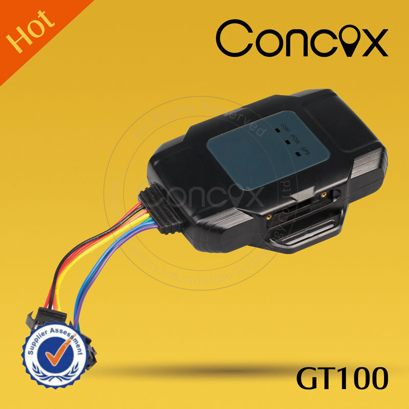 New motorcycle GPS tracker sos alarm with built-in battery Concox GT100