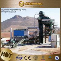 Mobile batching asphalt plant RDX105 model twin-shaft 105t/h