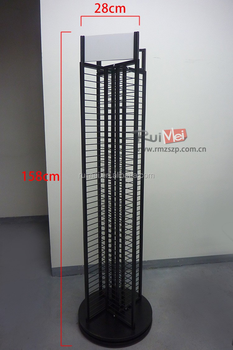 Floor standing Detachable Metal Wire Grid Display Rack