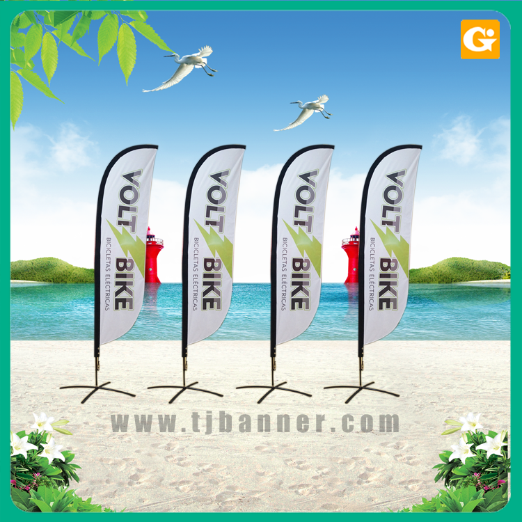 Custom printing swooper flag different kinds feather flag