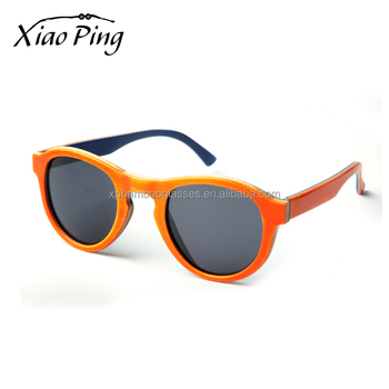 Cheap wholesale italian custom handmade orange skateboard wood sunglasses with polarized lenses