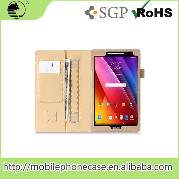 China Supplier Folio Wallet Stand Leather Case For Asus Zenpad 8.0 Z580C