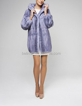 14038 high quality lady's blue mink fur coat