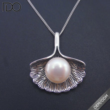 Top grade big pearl necklace price,fresh water pearl fashion necklace,silver pearl necklace