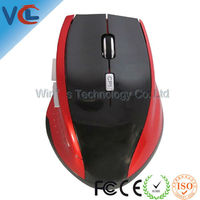 6D Wireless Optical Mouse with DPI Switch Red
