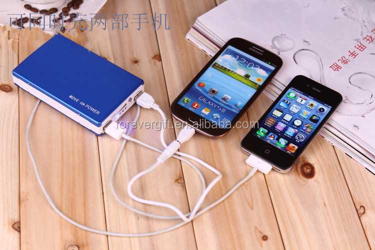 Universal portable power bank for mobile phone/iPhone/iPad 20,000mAh with LED light