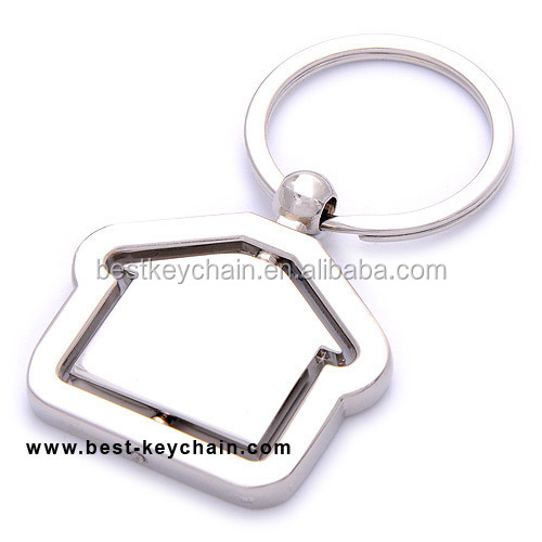 PROMOTION METAL CUSTOM HOUSE KEY CHAIN BLANK LOGO (KBK11222)