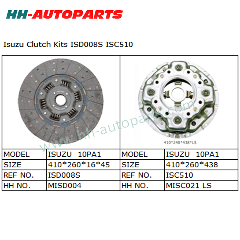 ISD008S ISC510 Clutch Cover Assembly for Isuzu Truck Luk Clutch Kit