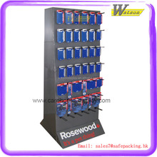 Supermarket cardboard pallet display with CMYK print display stand for toothbrush