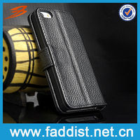 Genuine Leather OEM Hot Selling Wallet Case for iphone 5