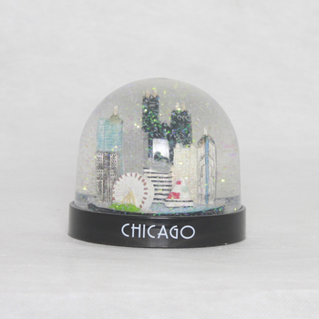 80MM Chicago building plastic snow ball souvenir