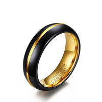 Tungsten Ring- Steel Ring For Men- Classical One - 6 mm Men's Tungsten Carbide Ring Wedding Band in 2019 and Beyond